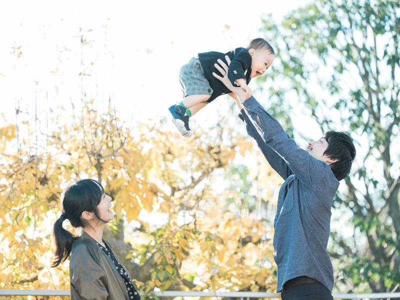 1歳バースデーフォト、きすけくん!家族写真