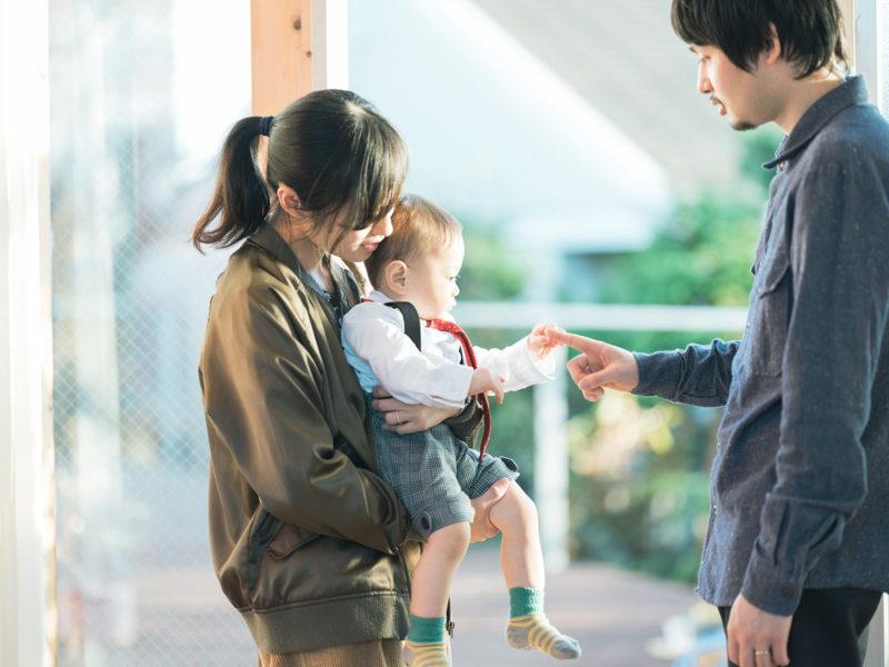 1歳バースデーフォト、きすけくん!家族写真、ナチュラル
