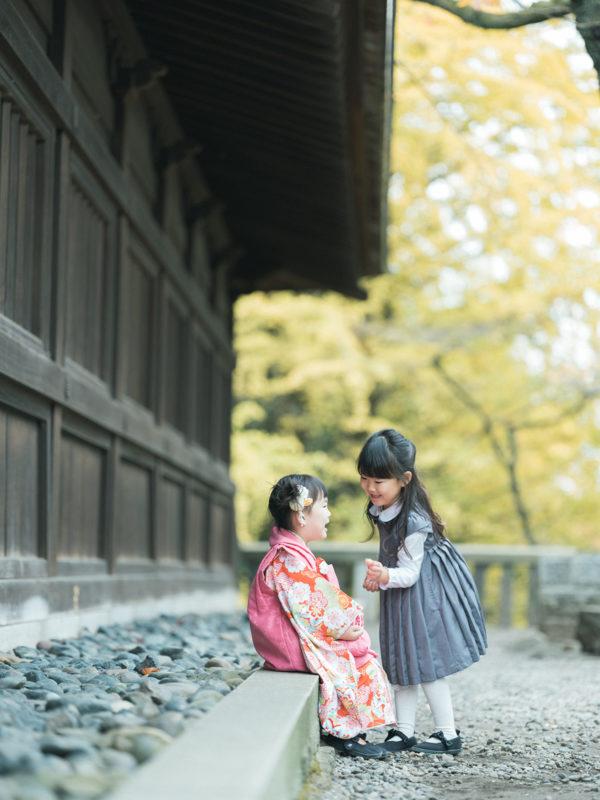 宇都宮二荒山神社、3歳七五三、さくらちゃん!姉妹で