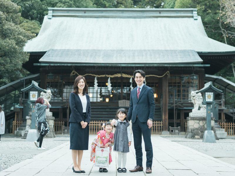 宇都宮二荒山神社、3歳七五三、さくらちゃん!家族写真