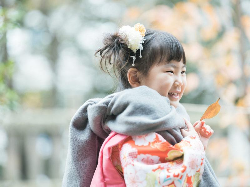 宇都宮二荒山神社、3歳七五三、さくらちゃん!紅葉
