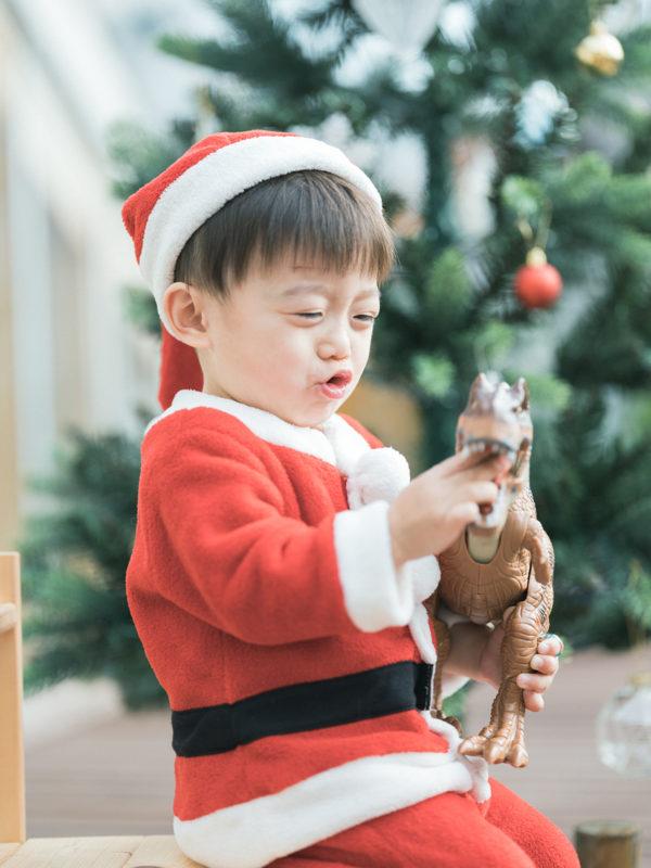 2歳バースデーフォト、そうすけくん!サンタクロース