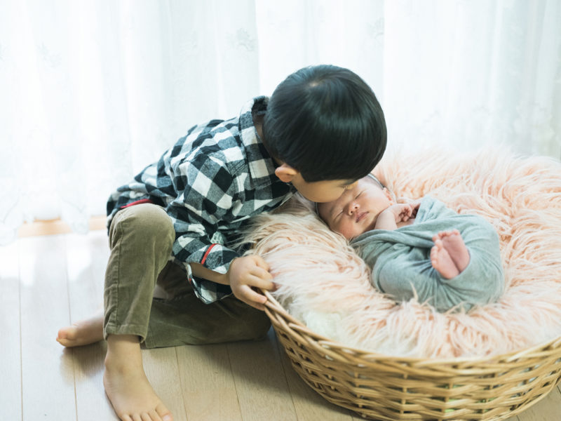 日光、自宅出張撮影ニューボーンフォト、いとちゃん!兄弟写真