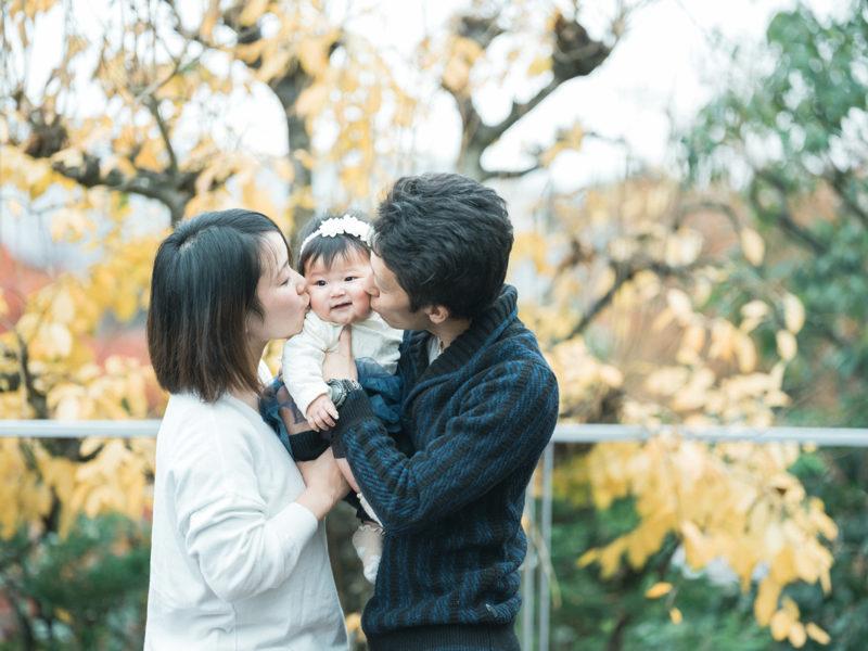 ハーフバースデー、りおちゃん!家族写真