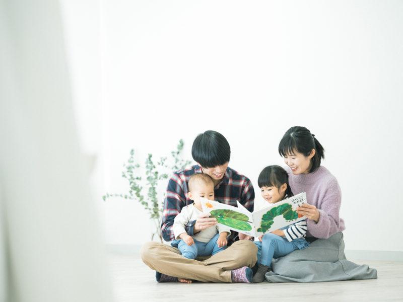 1歳バースデーフォト、ふうちゃん!家族写真