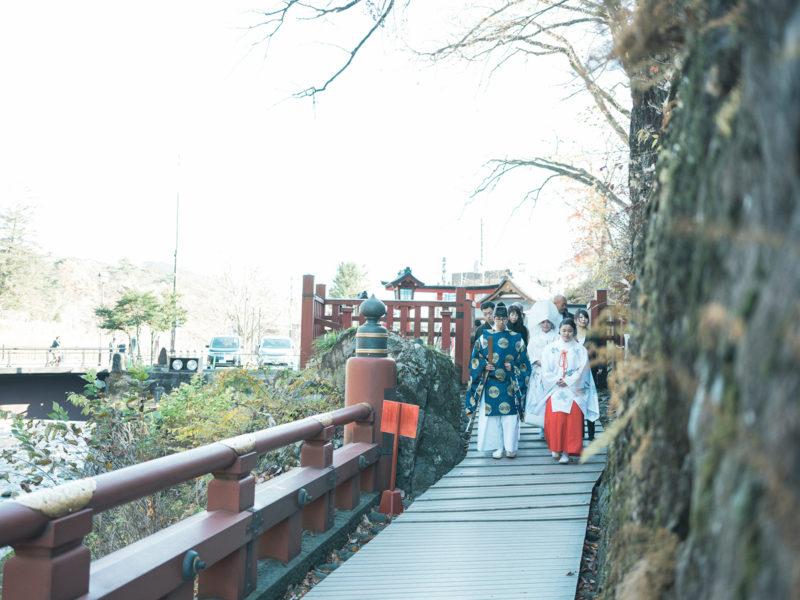 日光二荒山神社、和装、結婚式!神橋、渡橋
