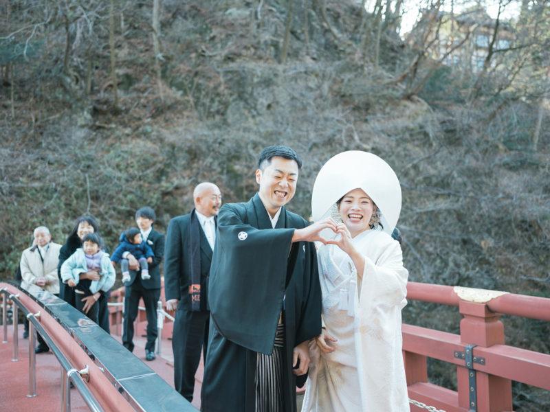 日光二荒山神社、和装、結婚式!神橋