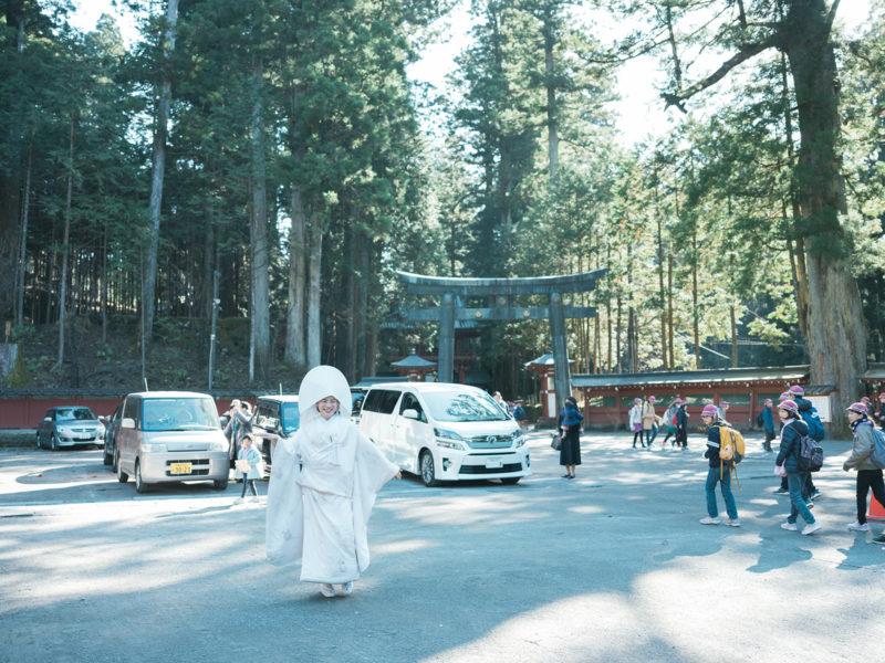 日光二荒山神社、和装、結婚式!境内