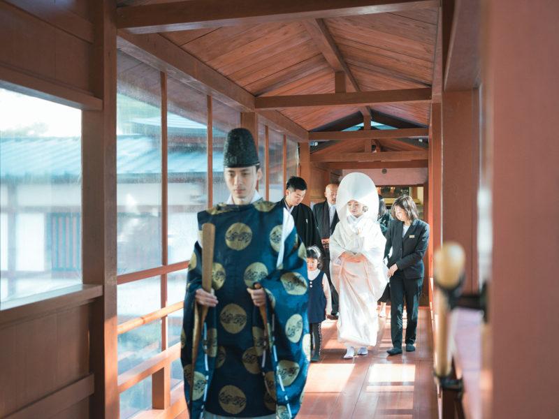 日光二荒山神社、和装、結婚式!参進