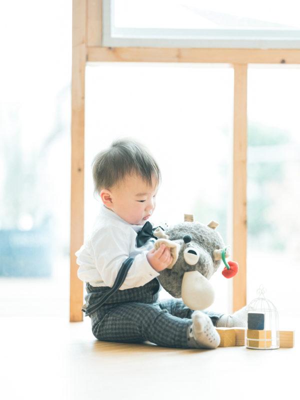 家族写真、はるくん!with フレデリック