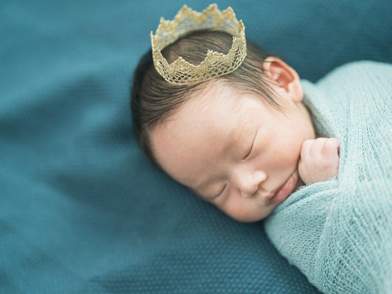 宇都宮、自宅出張撮影ニューボーンフォト、さくやくん!王冠