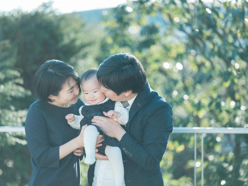 バースデーフォト、あかりちゃん!家族写真
