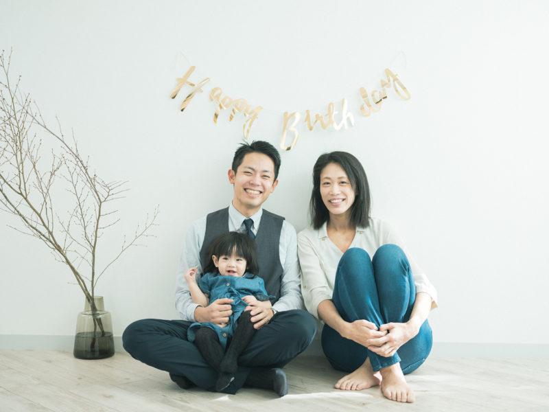 バースデーフォト、みふゆちゃん!家族写真
