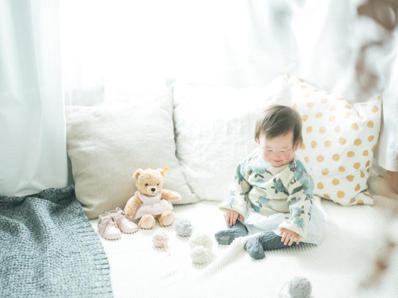 1歳バースデーフォト、えまちゃん!ナチュラル