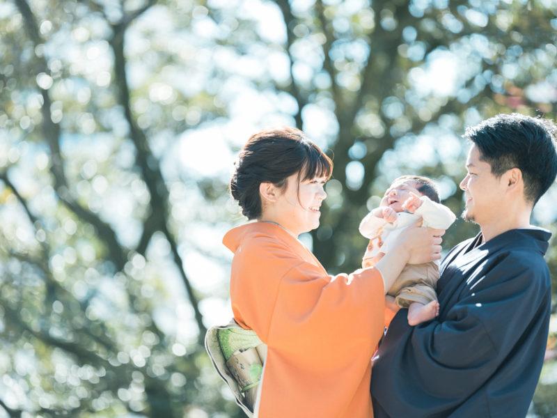 宇都宮二荒山神社、お宮参り、あおいくん!家族写真