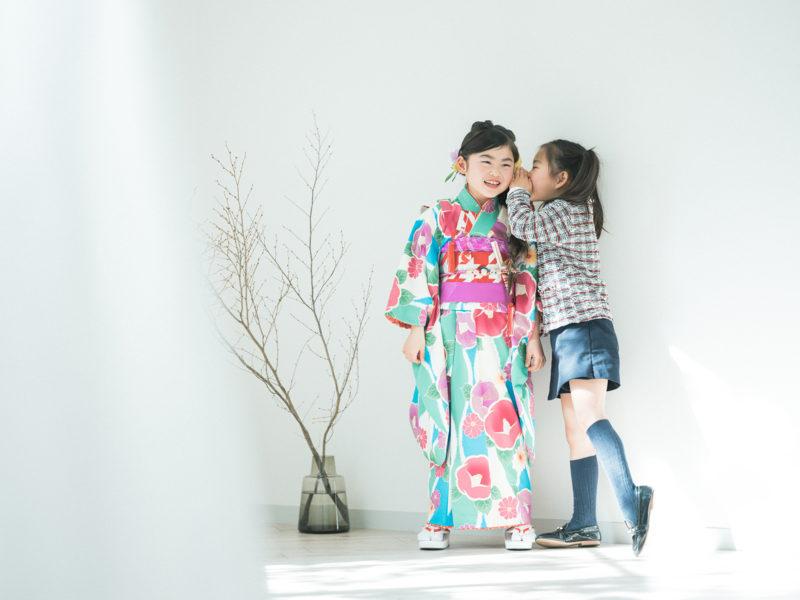 7歳七五三、りおちゃん!姉妹写真