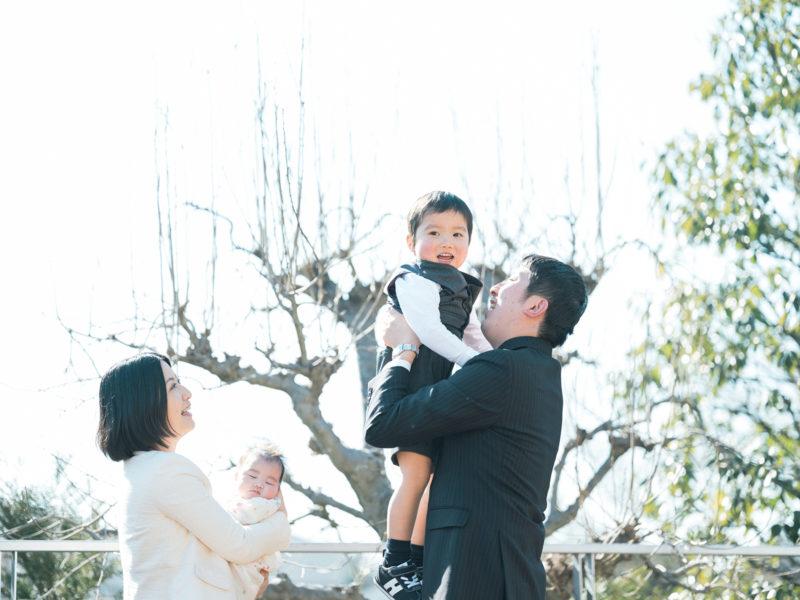 お宮参り、なおみちゃん!家族写真