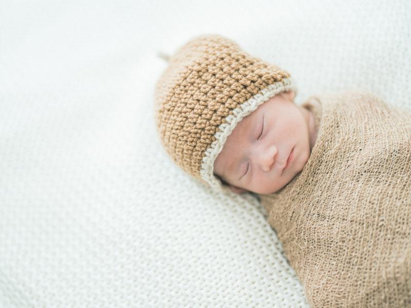 宇都宮、自宅出張撮影ニューボーンフォト、はるくん!可愛い手作り帽子