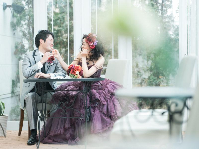 フォトウエディング、カラードレス!可愛い二人