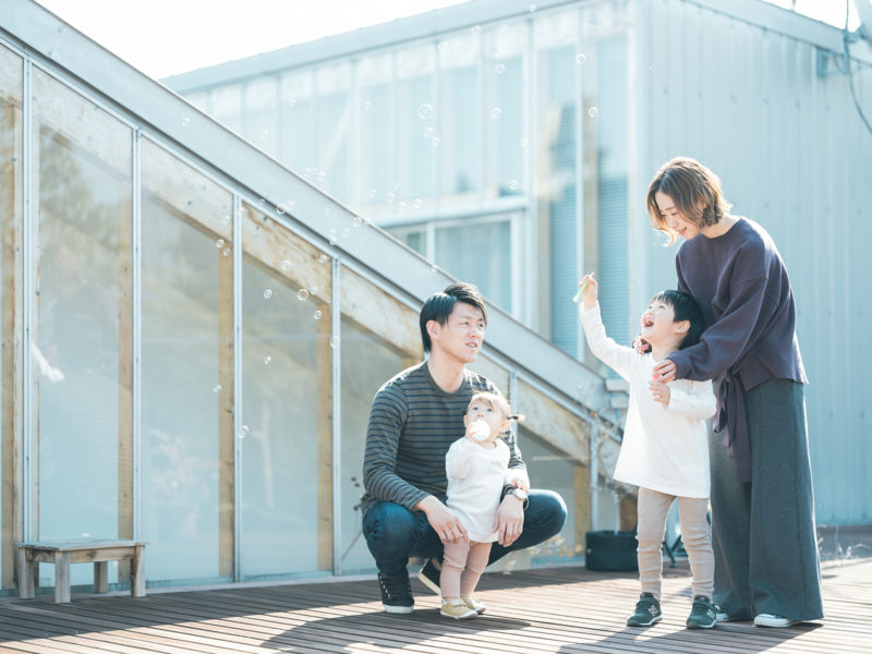 4歳バースデーフォト、はるくん!家族写真
