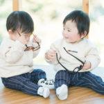 双子、1歳バースデーフォト!miki house