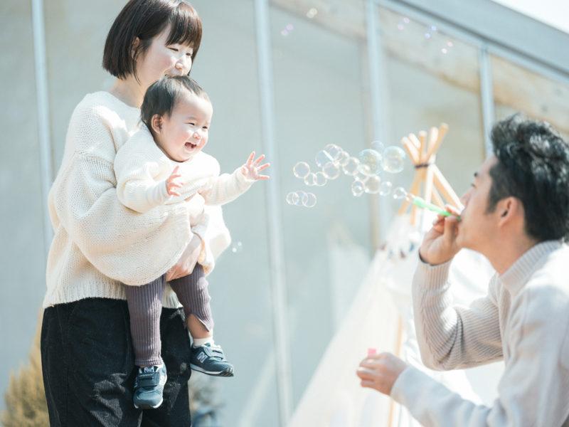 1歳バースデーフォト、ゆなちゃん!家族写真