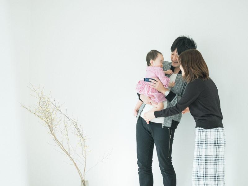 1歳バースデーフォト、えまちゃん!家族写真