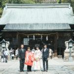 宇都宮二荒山神社、お宮参り!産着、親族写真、家族写真