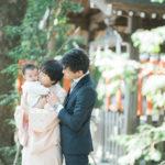 宇都宮二荒山神社、お宮参り!えなちゃん、家族写真