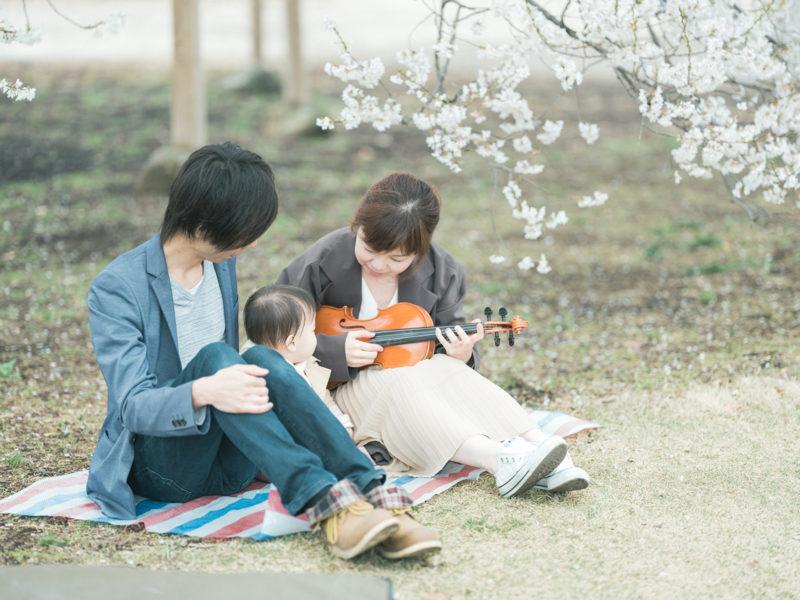 下野市出張ロケーション撮影、桜、はなのちゃん!