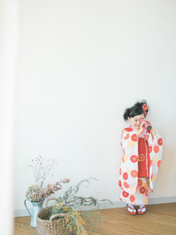 3歳七五三、りあちゃん!万華鏡、レトロなおもちゃ