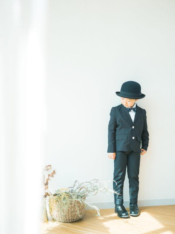 入学記念、えいちゃん!お洒落帽子