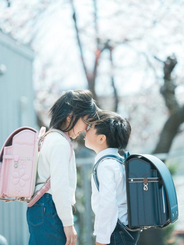 入学記念、えいちゃん!兄弟写真