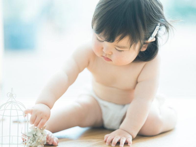 1歳バースデーフォト、さくらちゃん!