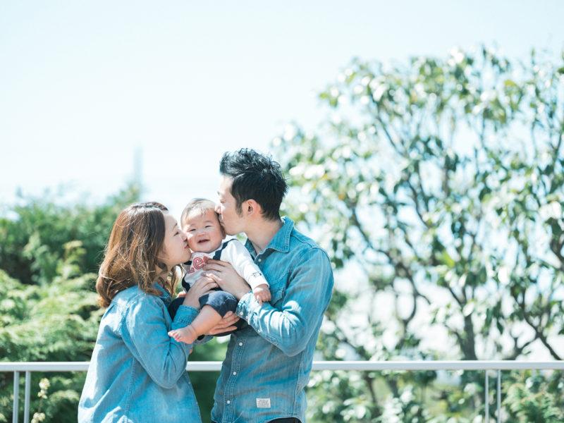 ハーフバースデー、けいすけくん!家族写真