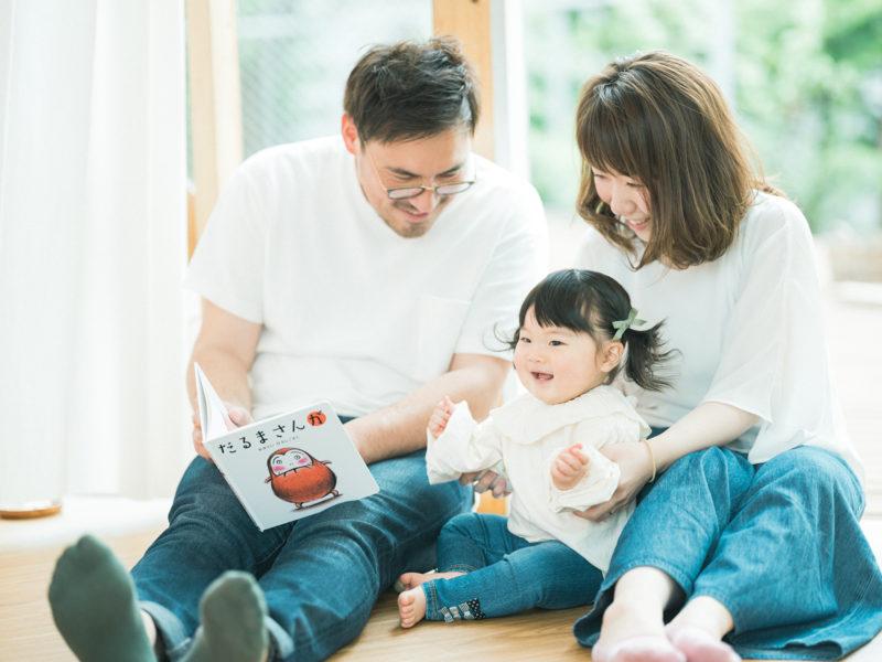 1歳バースデーフォト、ひなみちゃん!家族写真