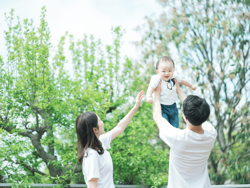 1歳バースデーフォト、あさひくん!家族写真