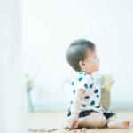 1歳バースデーフォト、そうたくん!kiko+のおもちゃ