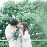 1歳バースデーフォト、おとくん!家族写真