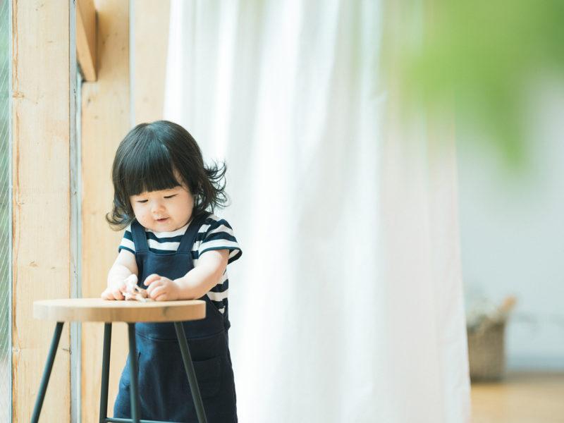 1歳バースデーフォト、つきのちゃん!