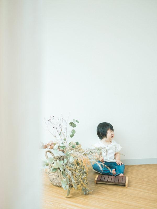 1歳バースデーフォト、ほのかちゃん!泣き顔