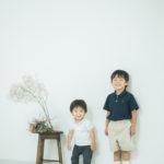 5歳バースデーフォト、しょうへいくん!兄弟写真