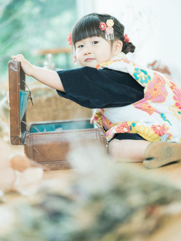 3歳七五三、ふみちゃん!sou・souの着物。