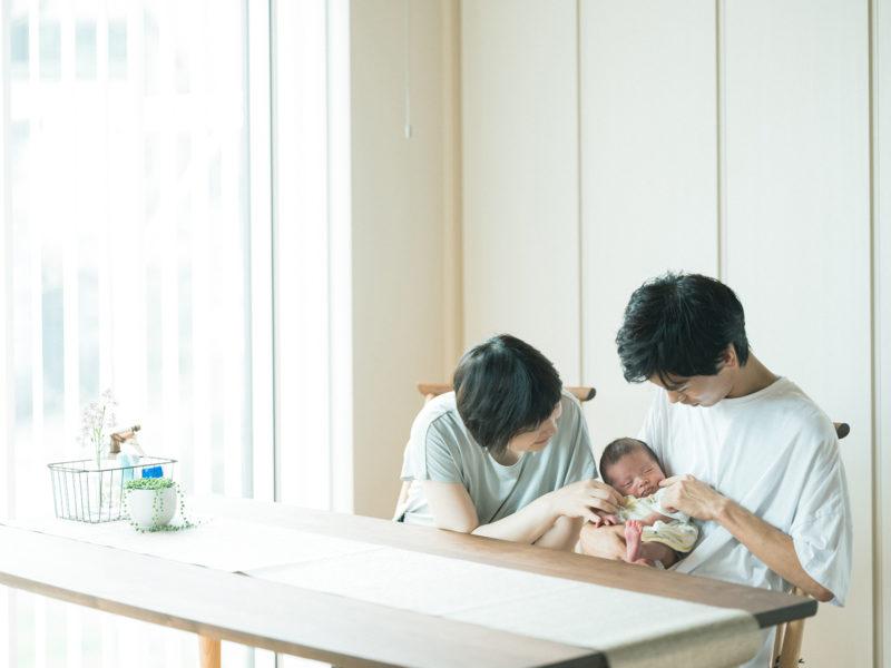 日光市、ニューボーンフォト、れんくん!家族写真
