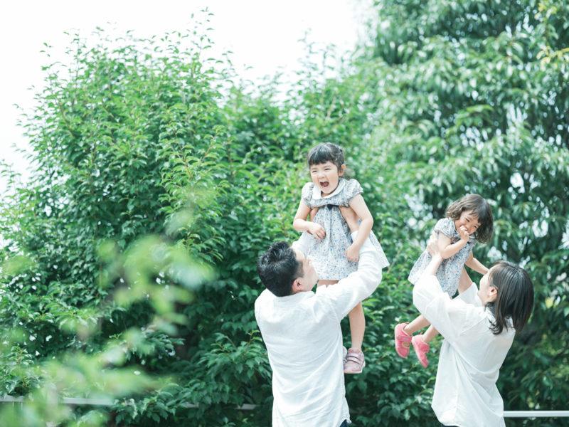 2歳バースデーフォト、のぞみちゃん!家族写真