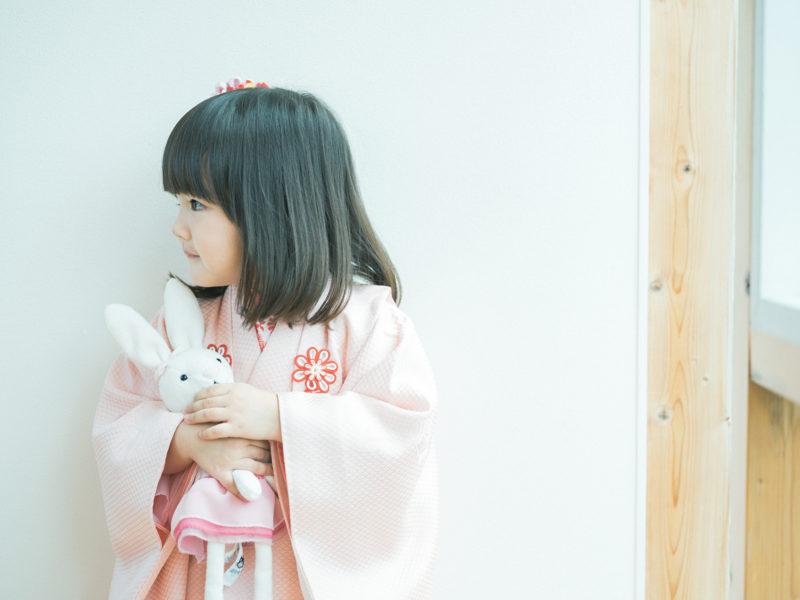3歳七五三、ひなちゃん!可愛いうさぎのお人形