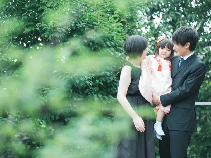 3歳七五三、ひなちゃん!家族写真