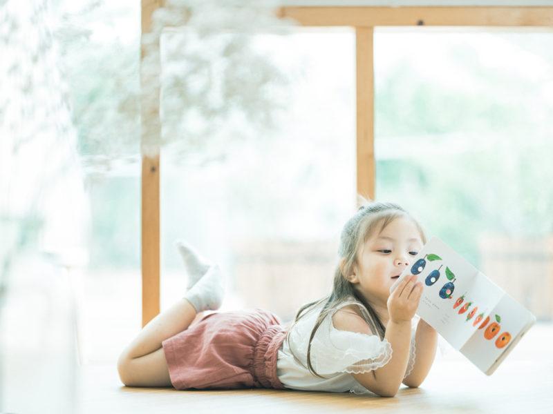 3歳バースデーフォト、あんちゃん!絵本、ナチュラル