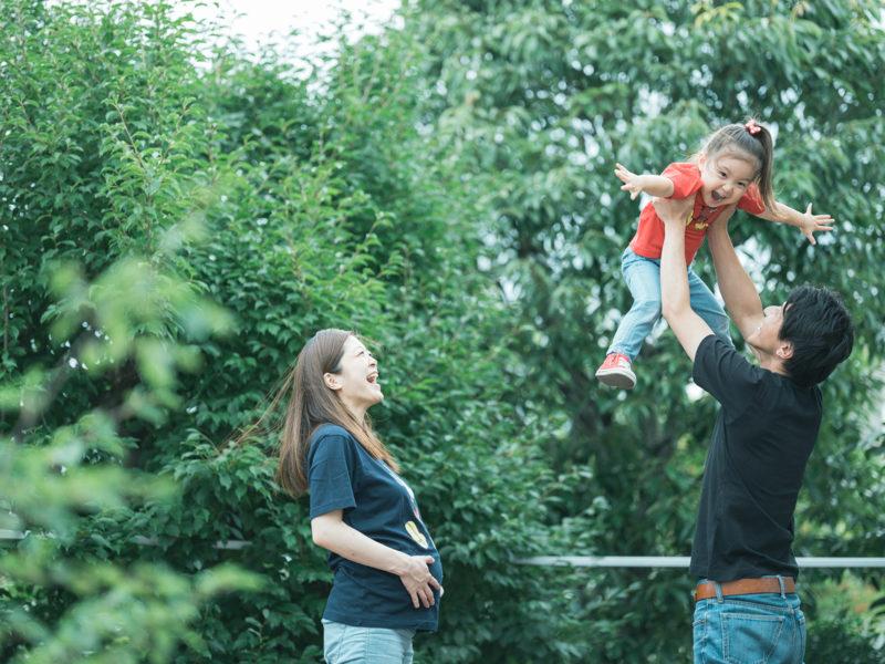 3歳バースデーフォト、あんちゃん!家族写真