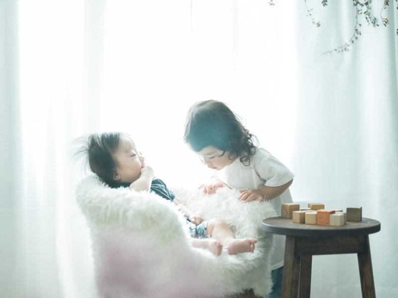 2歳バースデーフォト、こうちゃん!兄弟写真